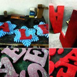 حروف یونولیتی تزئینی رنگی و برجسته