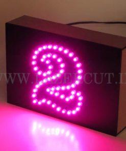پلاک LED ساختمان قیمت پلاک نوری آپارتمان سر در ورودی ال ای دی صورتی