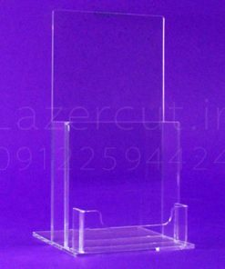 استند رومیزی کاتالوگ و کارت ویزیت پلکسی گلاس شفاف