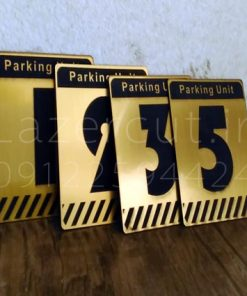 پلاک شماره پارکینگ مولتی استایل