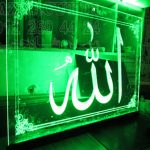 تابلو نورتاب پلکسی گلاس سبز