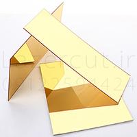 ورق پلکسی گلاس آینه میرور پلکسی طلایی نقره ای