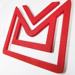 لوگو یونولیتی برجسته رنگی با پلکسی