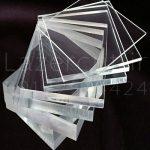 نمونه ورق پلکسی گلاس شفاف ضخامت های مختلف