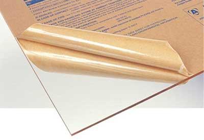 ورق پلکسی گلاس شفاف با روکش