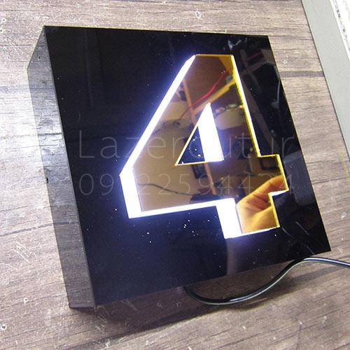 قیمت ساخت پلاک ساختمان ال ای دی LED منزل