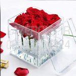 خرید جعبه باکس گل پلکسی گلاس شیشه ای شفاف