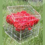 خرید جعبه باکس گل پلکسی گلاس شفاف شیشه ای