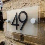 شماره پلاک ساختمان پلکسی گلاس لیزرکات