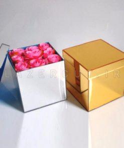 باکس هدیه طلایی و نقره ای