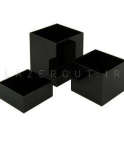 جعبه پلکسی رنگی ساده لیزرکات