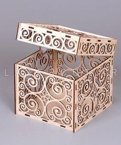 خرید جعبه لوکس چوبی لیزرکات