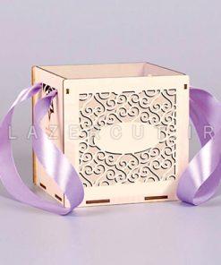 خرید جعبه چوبی کادویی لیزر کات