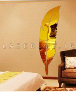 آینه دیواری طرح پر پلکسی گلاس لیزرکات